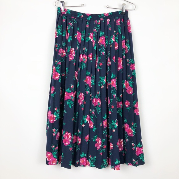 d81cfc7807 Alfred Dunner Skirts | Vintage Floral Midi Skirt | Poshmark